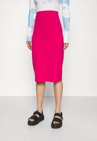 Even&Odd - 2 PACK - Falda de tubo - black/pink - 3