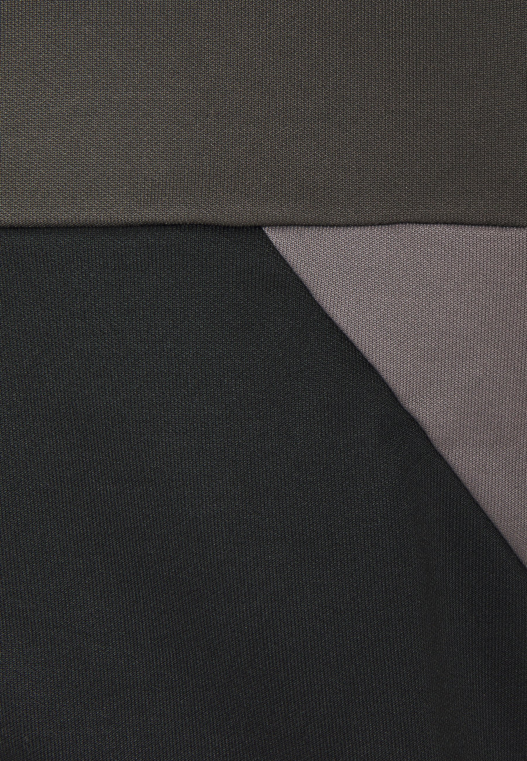 Lyle & Scott Trio Geo Panel Zipthrough - Hettejakke Raven Jet Black/mørkegrønn