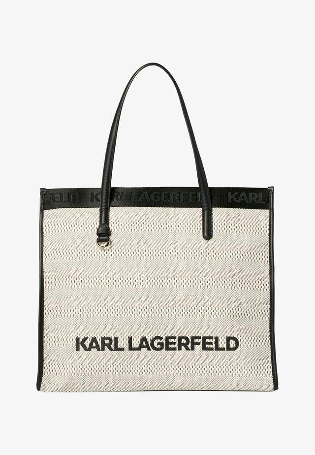 Shopping bag - black white