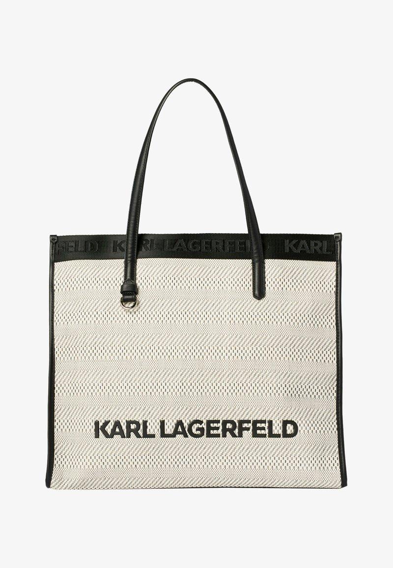 KARL LAGERFELD - Tote bag - black white