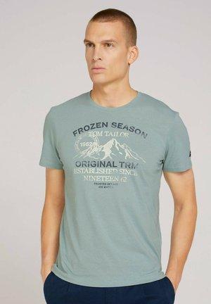 T-shirt med print - light ice blue