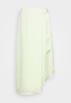THE FOLDED DRAPE SKIRT - A-line skirt - pale acid
