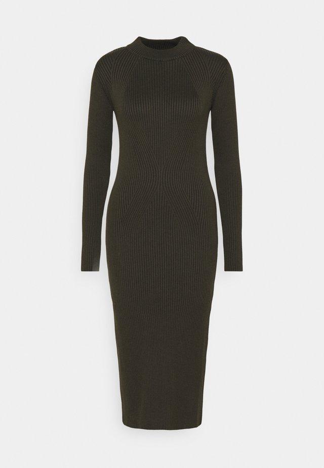 PLATED LYNN DRESS MOCK SLIM KNIT WMN L\S - Shift dress - algae