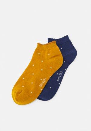 EUDORA SPOT SOCKS 2 PACK - Socks - mineral blue/sunflower yellow