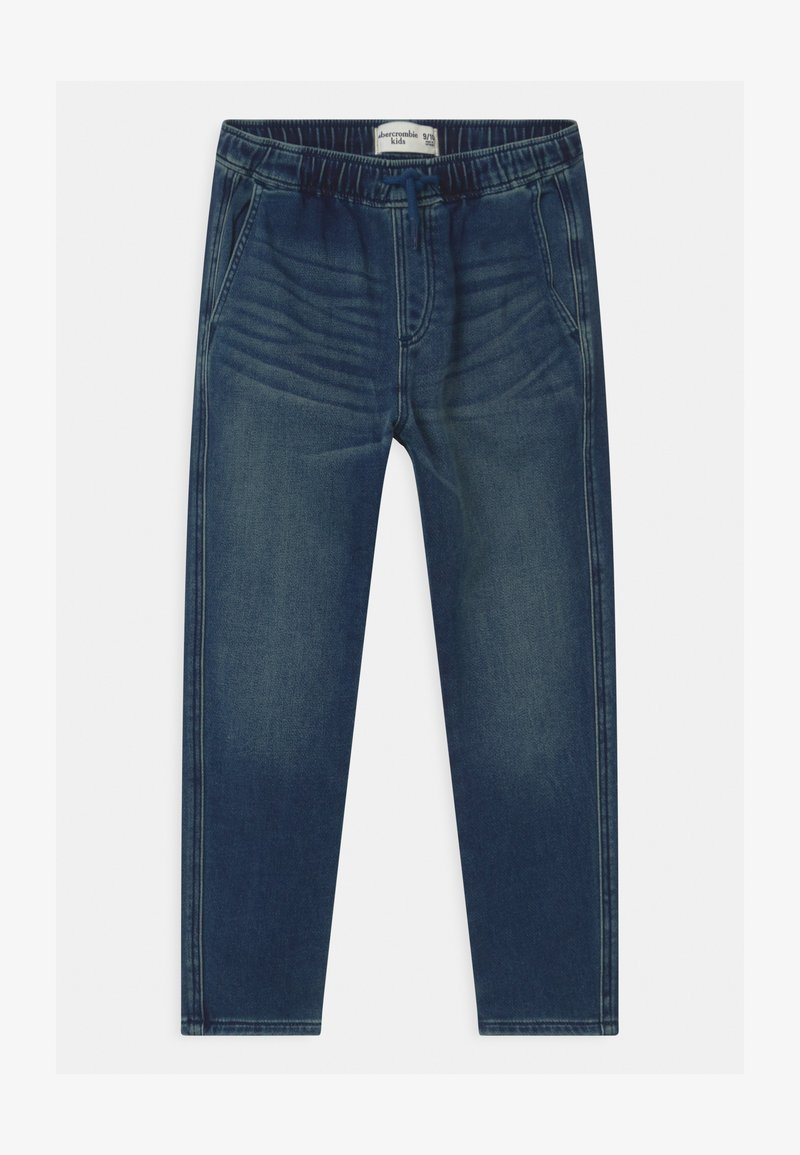 Abercrombie & Fitch - SNEAKER - Relaxed fit jeans - dark-blue denim