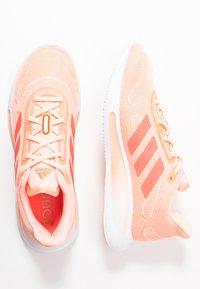 adidas Performance - GALAXAR RUN - Nøytrale løpesko - pink tint/metallic silver/signal pink - 1