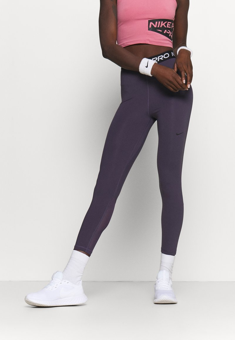 Nike Performance - 365 7/8 HI RISE - Legginsy - dark raisin/black