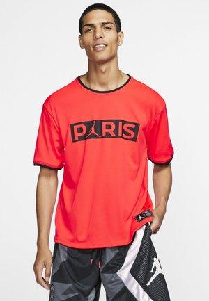 Print T-shirt - red/black