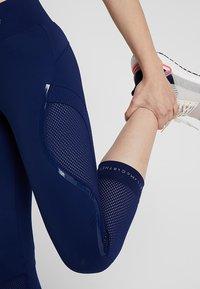 adidas by Stella McCartney - ESSENTIALS SPORT CLIMALITE 3/4 LEGGINGS - 3/4 sports trousers - dark blue - 3