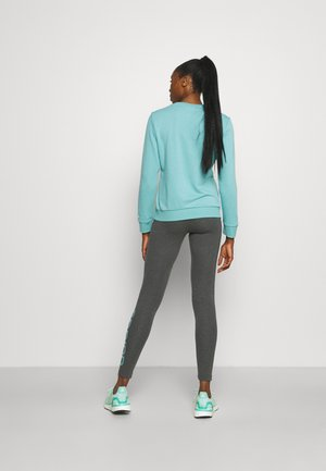 LOUNGEWEAR ESSENTIALS HIGH-WAISTED LOGO LEGGINGS - Leggings - dark grey heather/mint ton