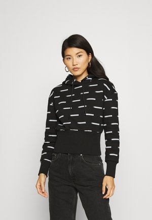 LOGO ALL OVER PRINT HOODIE - Mikina - institutional black