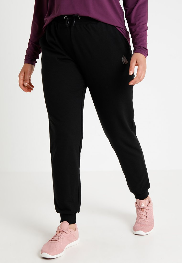 Active by Zizzi - Tracksuit bottoms - black