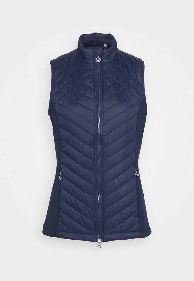 SWING TECH PUFFER VEST - Smanicato - peacoat