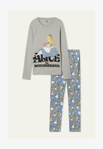 MIT DISNEY ALICE PRINT SET - Pyjama set - light grey blend alice print