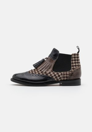 SELINA  - Boots à talons - london fog/black/white/stone/burgundy