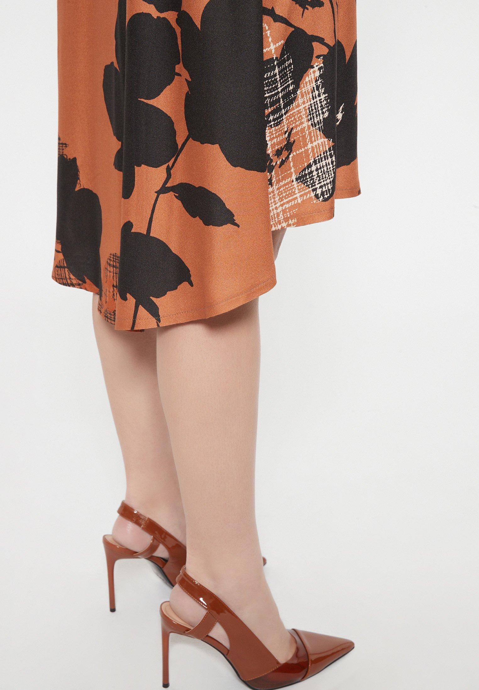 Ana Alcazar BAPLY Blusenkleid braun