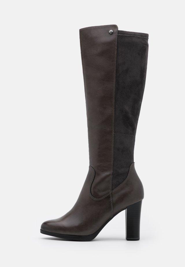 BOOTS - Kozačky na vysokém podpatku - dark grey