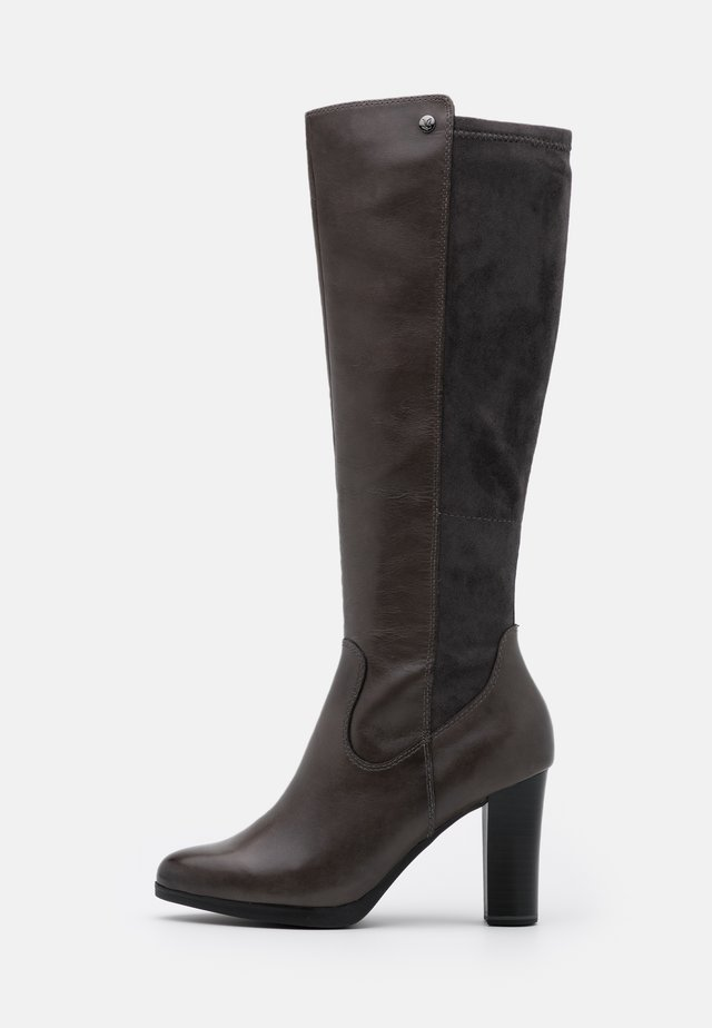 BOOTS - Korolliset saappaat - dark grey