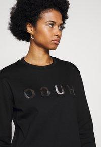 HUGO - NICCI - Long sleeved top - black/silver - 0