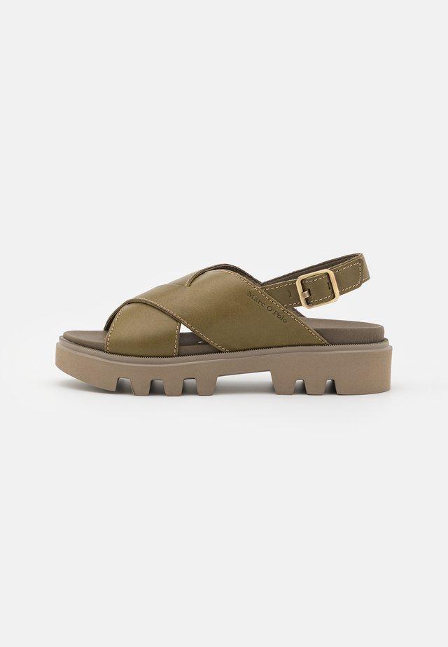 PIAVE - Sandales à plateforme - khaki