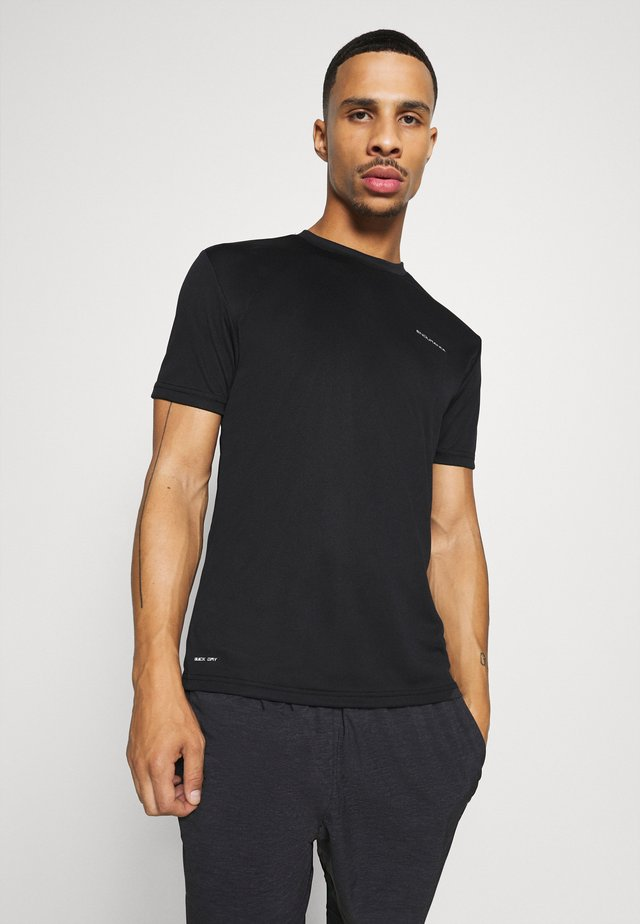 VERNON PERFORMANCE TEE - T-shirt imprimé - black
