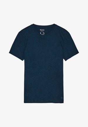 MIT RUNDAUSSCHNITT - Basic T-shirt - light blue