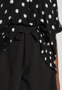 Dorothy Perkins Curve - TIE WAIST  - Shorts - black - 4