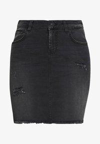 LTB - MIRAH - Denimová sukně - black denim - 5
