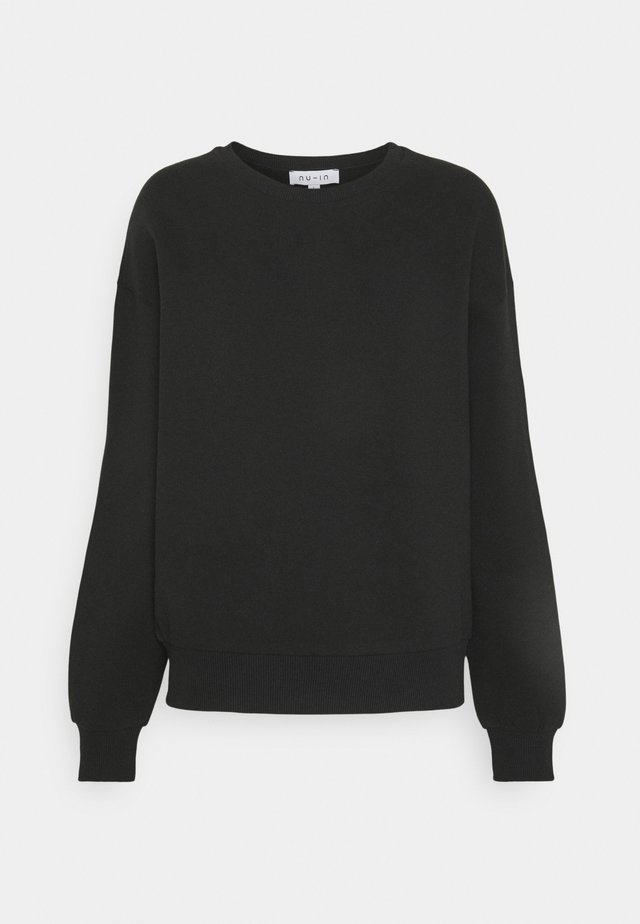 BASIC CREW NECK  - Sweatshirt - black
