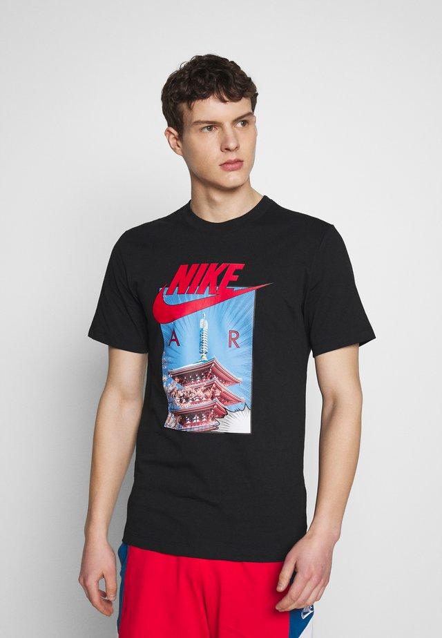 AIR PHOTO TEE - Print T-shirt - black