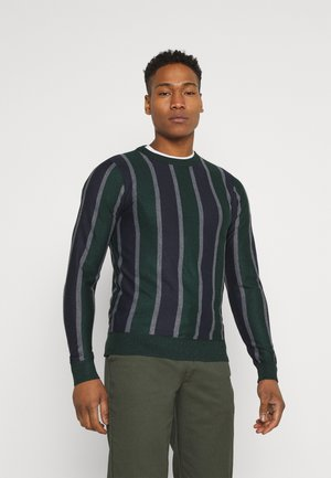 LYONS - Jumper - bottle green/grey marl/mid night navy