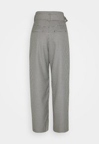 EDITED - KATE TROUSERS - Trousers - black/off-white - 1