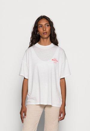 HIGH NECK GIRLFRIEND - Print T-shirt - almost mauve