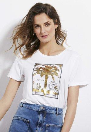 ISABEL - T-shirt med print - white