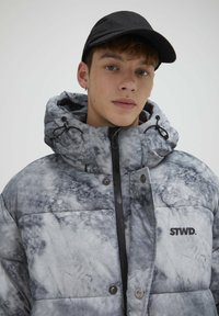 PULL&BEAR - Zimní kabát - mottled light grey - 3
