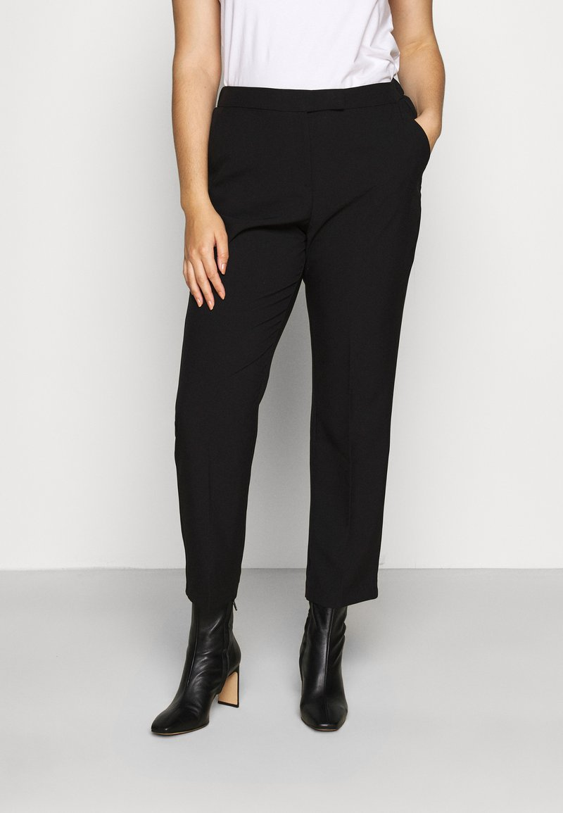 CAPSULE by Simply Be - ESSENTIAL STRAIGHT LEG - Trousers - black