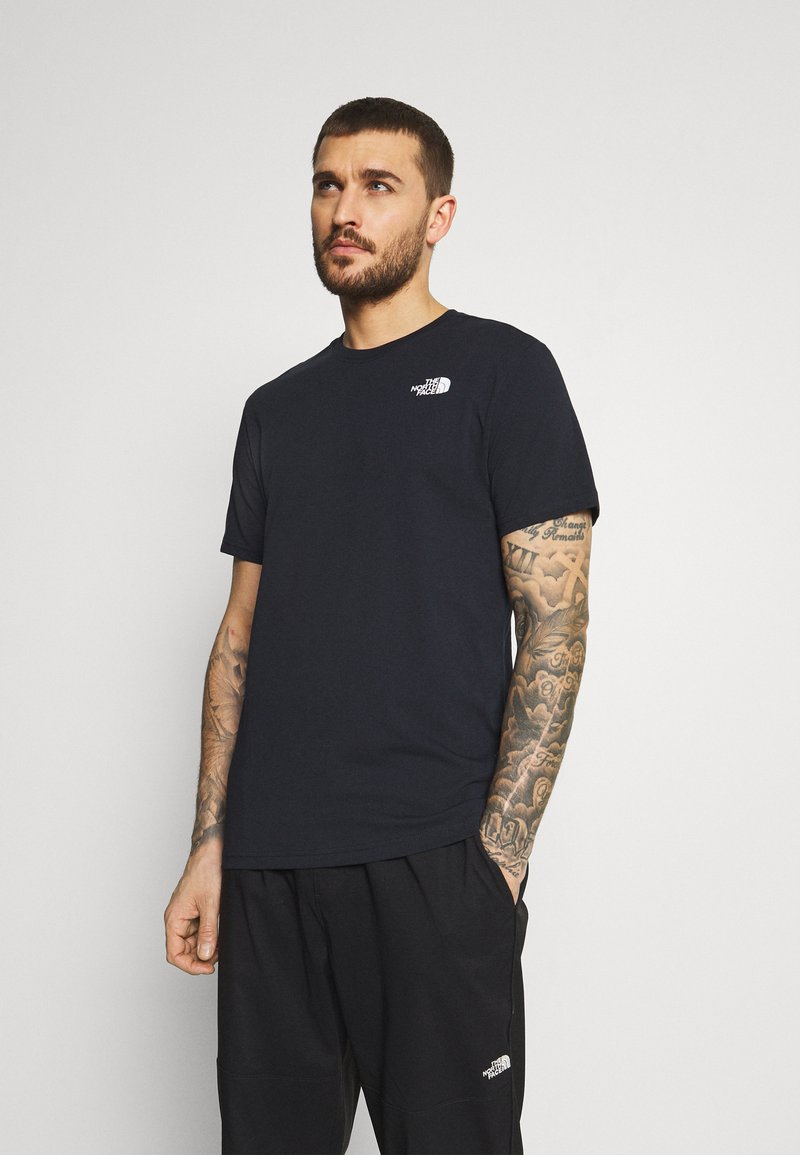 The North Face - REDBOX TEE - T-shirt con stampa - dark blue/green