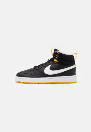 COURT BOROUGH MID  - Sneakers high - black/white/dark sulfur/light arctic pink