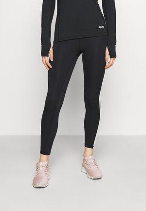 STHLM HIGH WAIST STRIPE - Legging - black beauty
