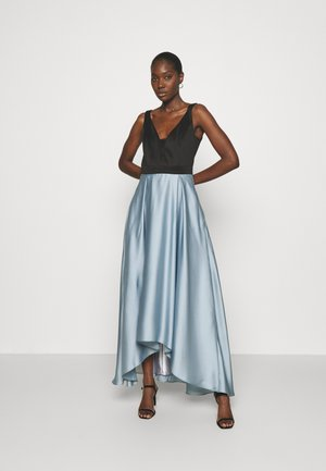 ABENDKLEID MIT SCUBAOBERTEIL IN KONTRATSFARBE - Společenské šaty - blue dust/black