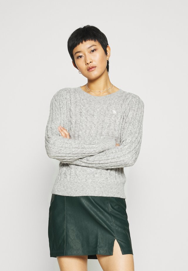 CABLE ICON MOOSE CREW - Pullover - gray