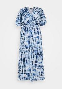 Lauren Ralph Lauren Woman - NIKLOS SHORT SLEEVE CASUAL DRESS - Maxi dress - blue - 5