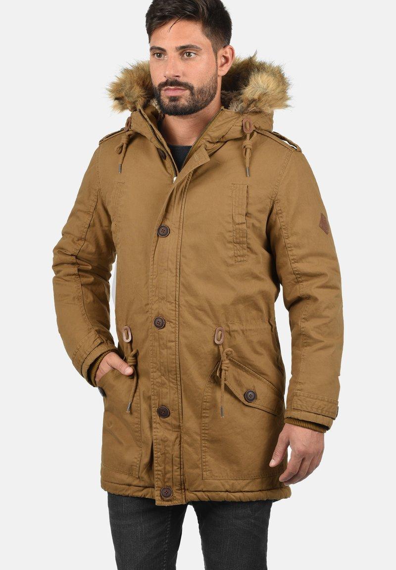 Solid - WINTERJACKE CLARKI TEDDY - Winter coat - light brown