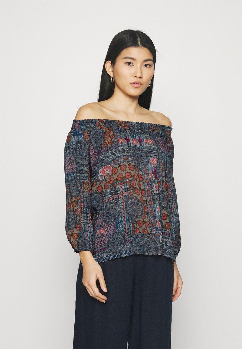 Desigual - KALIMA - Long sleeved top - blue