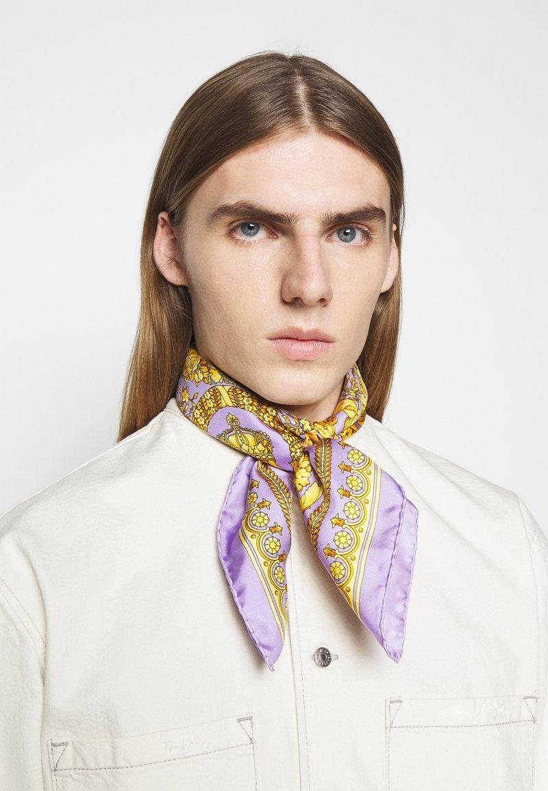 Versace - BAROCCO FOULARD UNISEX - Foulard - lilla/oro