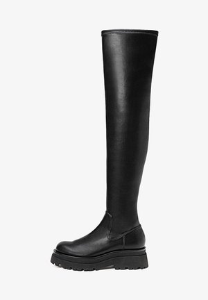 MIT PROFILSOHLE - Over-the-knee boots - black