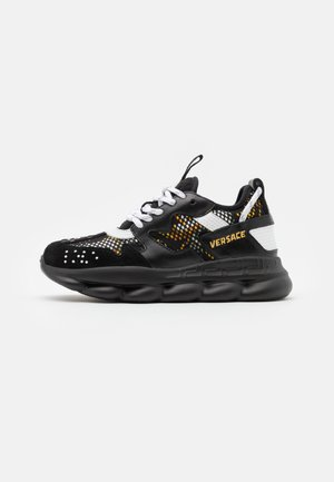 CHAIN REACTION - Sneakers laag - black/gold/white