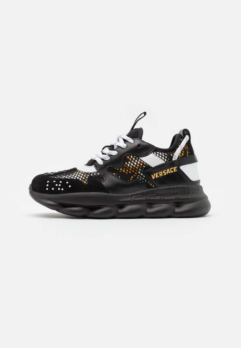 Versace - CHAIN REACTION - Baskets basses - black/gold/white
