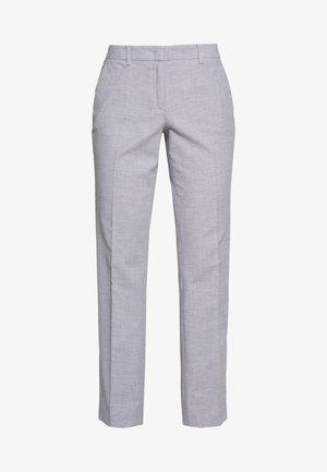 Trousers - blue panne