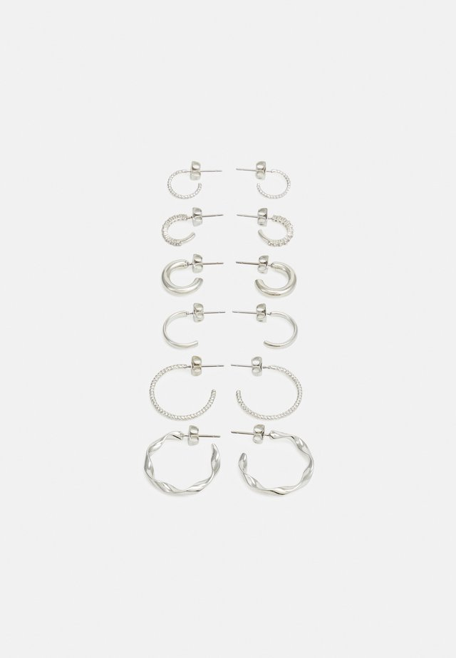 PCDIONA HOOP EARRINGS 6 PACK - Boucles d'oreilles - silver-coloured